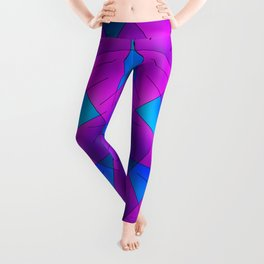 ABSTRACT LINES #1 (Purples, Violets, Fuchsias & Turquoises) Leggings