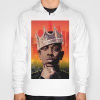 kendrick lamar Hoodies featuring King Kendrick by Tecnificent