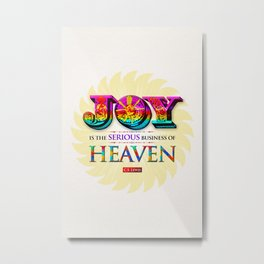 Serious Joy Metal Print