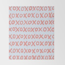 Tic Tac Toe (XOXO) Throw Blanket
