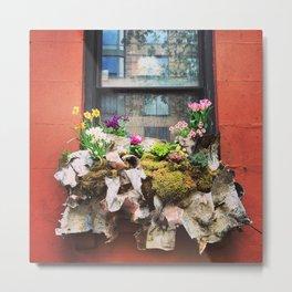 New York City Windowbox Metal Print