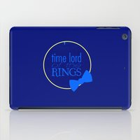 the lord of the rings iPad Cases featuring Time Lord of the Rings by Michelle Dadoun