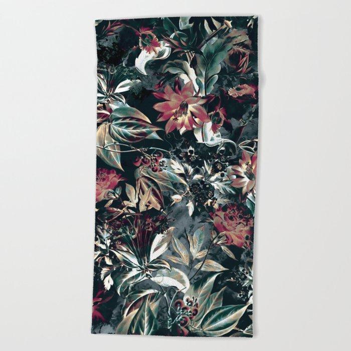 Space Garden Beach Towel