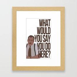 Office Space - 'Bob' Framed Art Print
