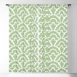 Fan Pattern Nile Green 113 Blackout Curtain