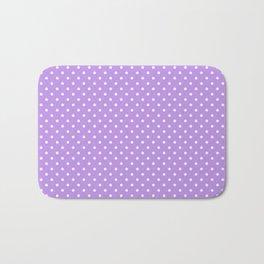 Mini Lilac with White Polka Dots Bath Mat