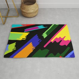 Bright abstraction in black Rug