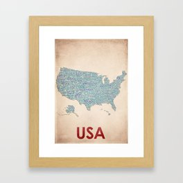 USA Framed Art Print