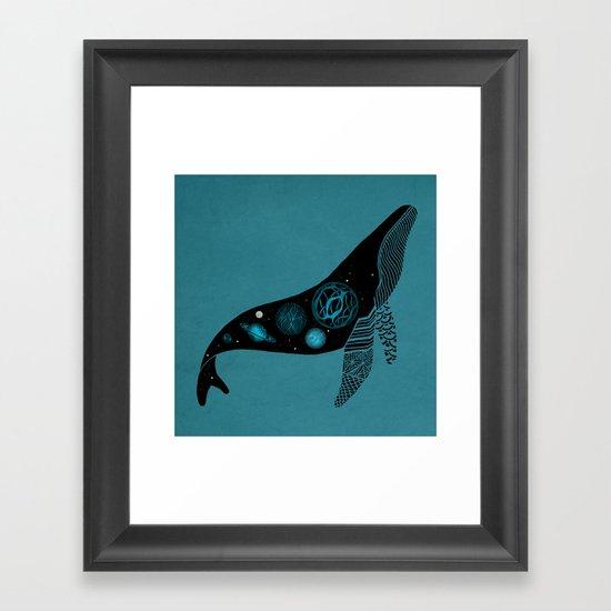 Whale Soul & the Galactic Tour Framed Art Print