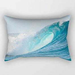 Crashing barrel wave in the Pacific Ocean Rectangular Pillow