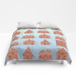 Gingerbread house pattern (V2) Comforters