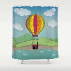 Balloon Aeronautics Sea & Sky Shower Curtain
