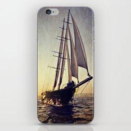 luxury big sailboat iPhone Skin