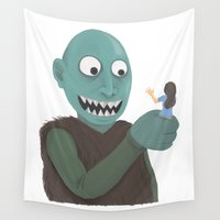 eat Wall Tapestries featuring eat by yogiobluda