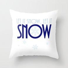 Let It Snow Snowflake Throw Pillow