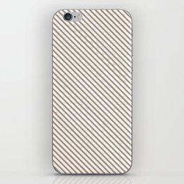 Warm Taupe Stripe iPhone Skin