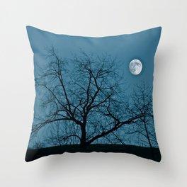 Full Moon 11-8-11 Throw Pillow