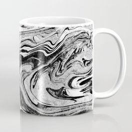 Masuki - black and white minimal spilled ink marbled paper marble texture marbling marble painting Coffee Mug