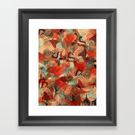 Melting Mix Framed Art Print