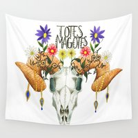 totes Wall Tapestries featuring Totes Magotes by Ariana Victoria Rose