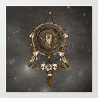 dreamcatcher Canvas Prints featuring DreamCatcher by Paula Belle Flores