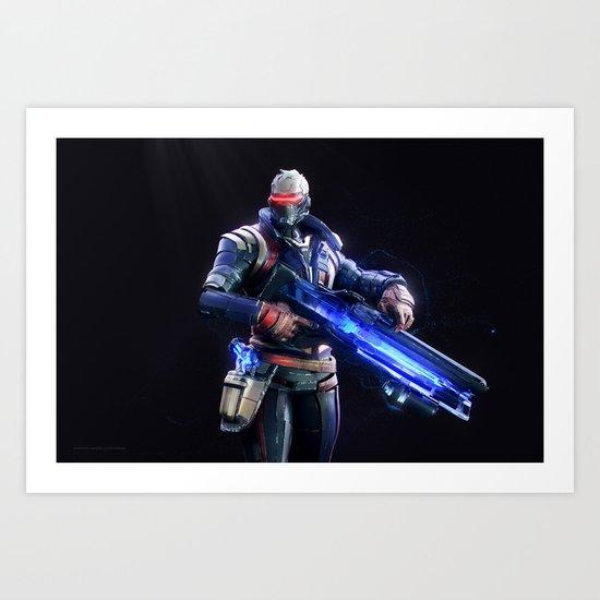Soldier 76 v2 Art Print