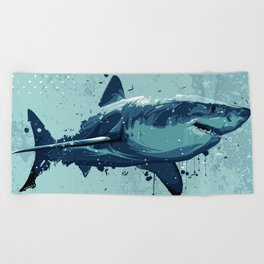 Guppy   Great White Shark Beach Towel