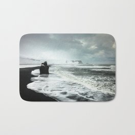 Black Sand beaches in Iceland Bath Mat