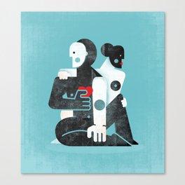 Man & woman ... Canvas Print