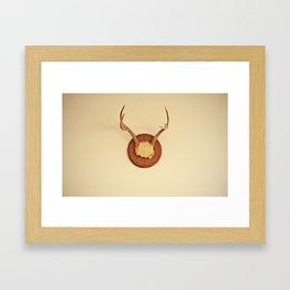 Warm Antler Framed Art Print