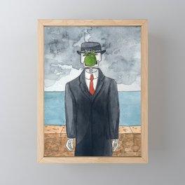 Son of man - Rene Magritte, 1964 Framed Mini Art Print