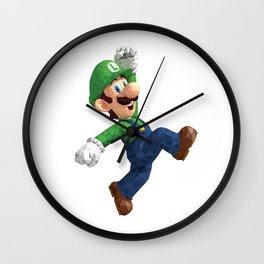 Luigi Super Mario Nintendo Illustration Pixel Art Wall Clock