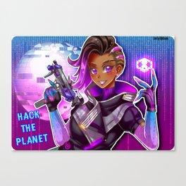 Hack the Planet Canvas Print