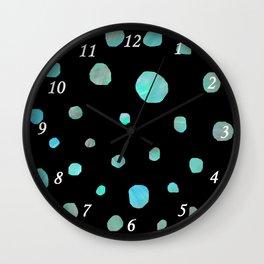 Blue meteorites Wall Clock
