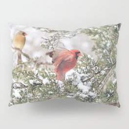 Red Cardinal Rising Pillow Sham