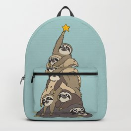 Christmas Tree  Sloths Backpack