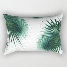 Fan Palm Leaves Paradise #7 #tropical #decor #art #society6 Rectangular Pillow
