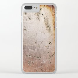 Distressed Silver Gold Leaf Clear iPhone Case