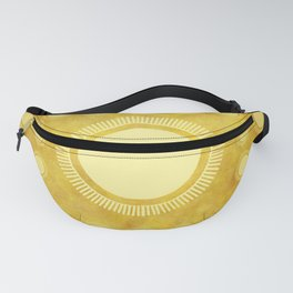 """Gold & Yellow Ethnic Sun Mandala"" Fanny Pack"