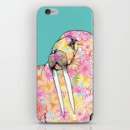 Aqua Walrus iPhone Skin