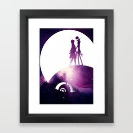 Jack and Sally Framed Art Print