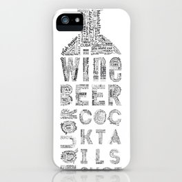 Bottle Drinks Tag Cloud iPhone Case