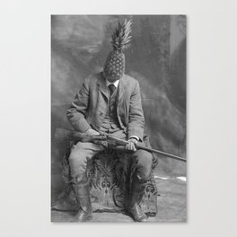 Mr. Pineapple with shotgun. 1904. Canvas Print