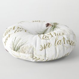 La Paix sur la Terre, Peace on Earth Floor Pillow