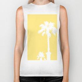 Palm Silhouettes On Yellow Biker Tank
