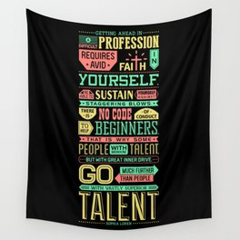 Lab No. 4 Getting Ahead Sophia Loren Motivational Quotes Wall Tapestry