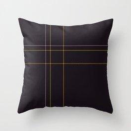 Dark Tartan Plaid Throw Pillow