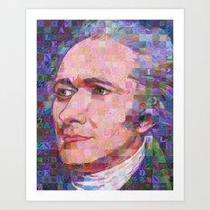Portrait Of Alexander Hamilton Art Print
