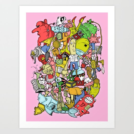 end of the world party Art Print