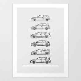 TYPE R EVOLUTION Art Print
